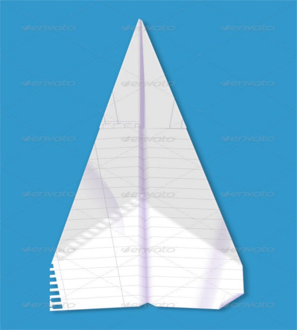 backlit paper airplane psd photoshop – 4