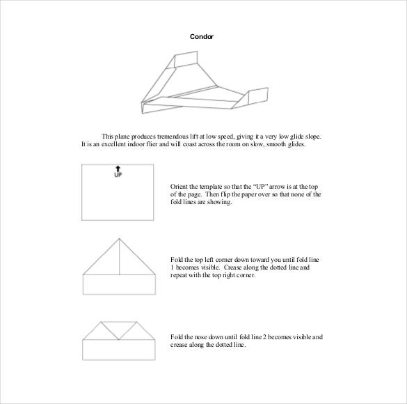 free condor paper airplane design for distance
