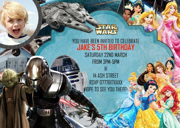 personalised boys birthday party invitations forstar wars 8