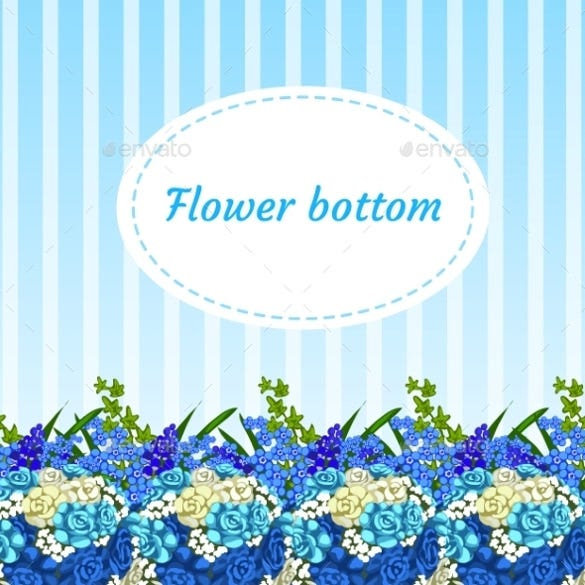 floral blue background with bouquets eps download