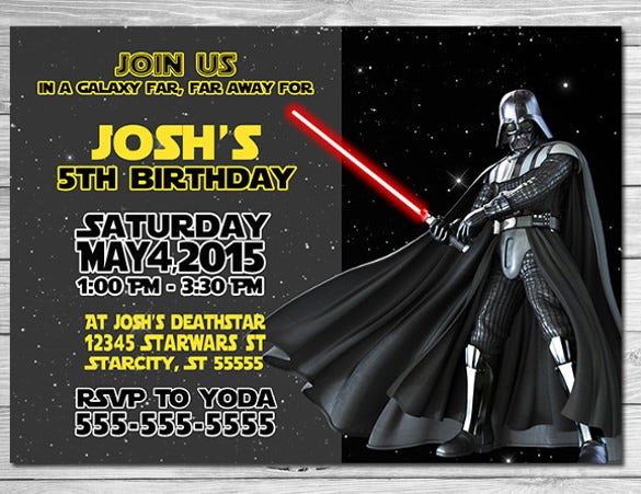 11  star wars birthday party invitations