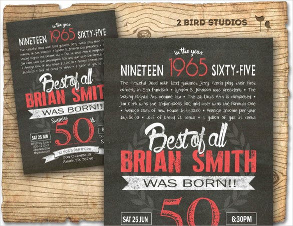 41 50th Birthday Invitation Templates Free Sample Example – Party Invitations 50th Birthday