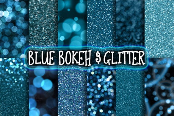 16 blue glitter bokeh backgrounds download