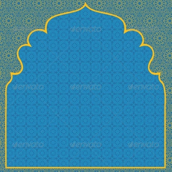 arabian blue background vector eps download