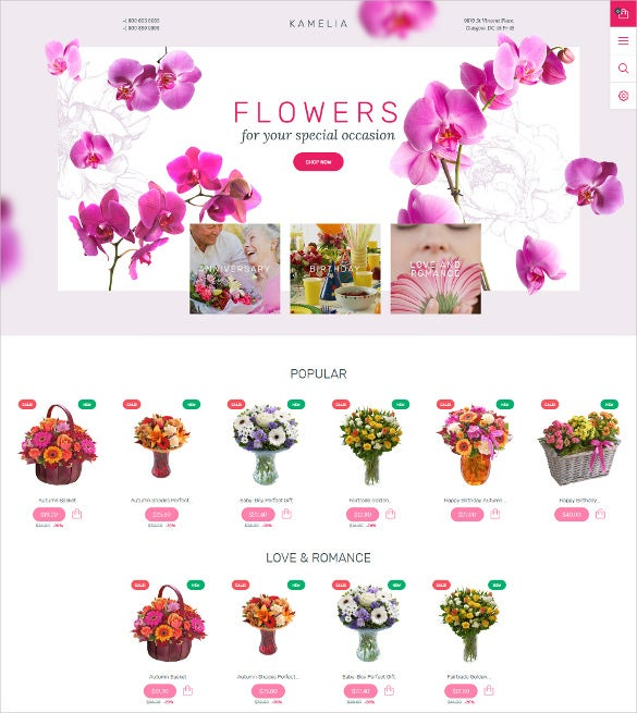 flower store ecommerce html5 template
