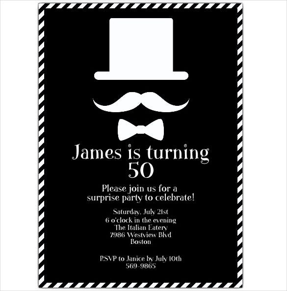 45 50th birthday invitation templates free sample example simple black and white coloured 50th birthday invitation filmwisefo