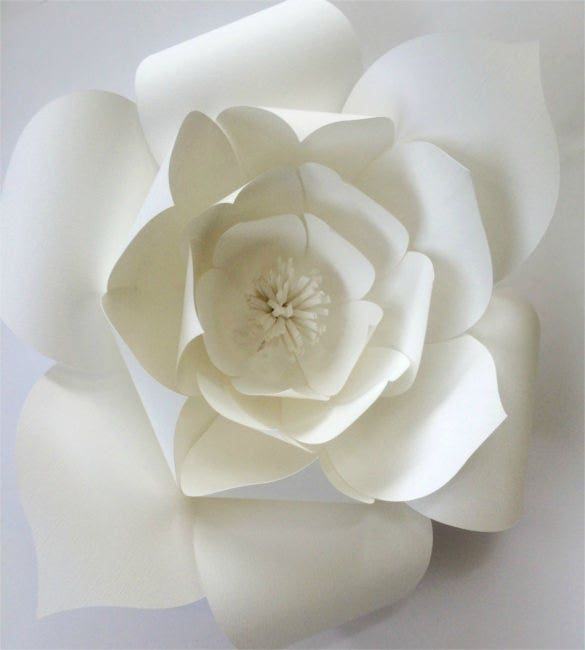 diy paper flower pattern template