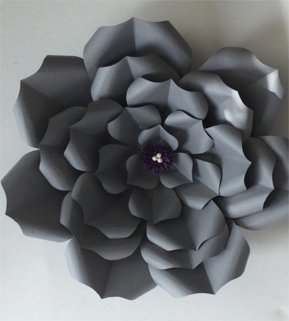paper flower template succulents1