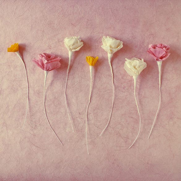 paper flower template for kids