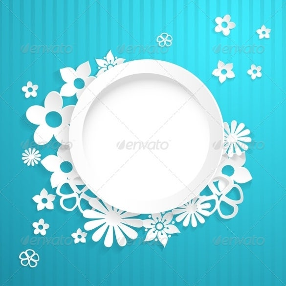 circle and papercraft flower template – 4
