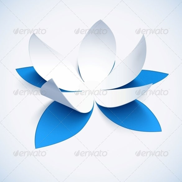 blue cutout paper flower template – 4