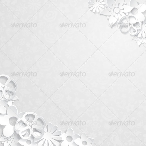 floral background with paper flower template – 4