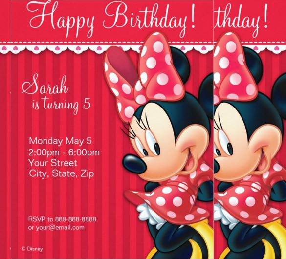32 minnie mouse birthday invitation templates free sample minnie mouse red and white birthday invitation stopboris Choice Image