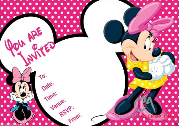 23 Minnie Mouse Birthday Invitation Templates Free Sample