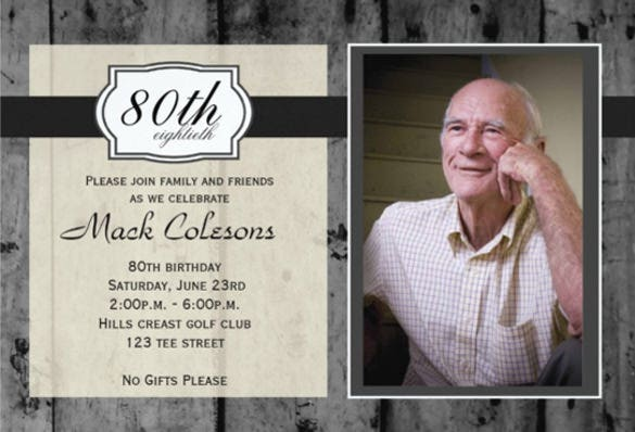 Adult Male Birthday Party Invitation