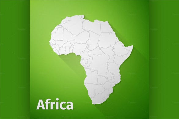 africa map on green background eps download