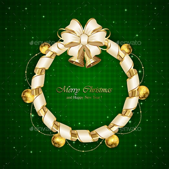 christmas decoration on green background eps design