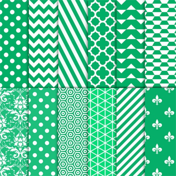 12 beautiful green patterns background printable download