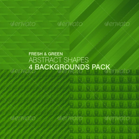 4 abstract shapes green backgrounds designs download