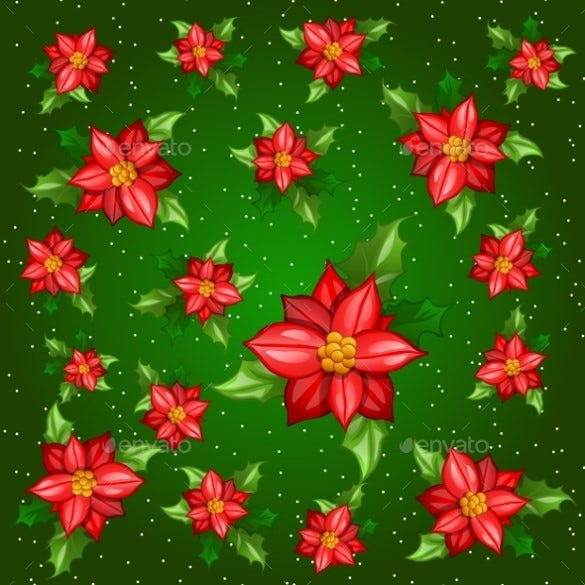 download flowers with leaves on a green background