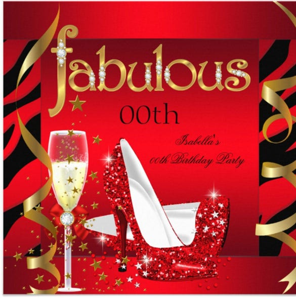 fabulous red champagne party black zebra birthday party invitation
