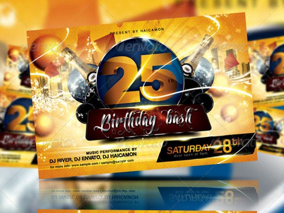 birthday bash party flyer invitation