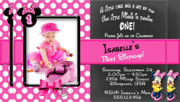 Minnie Mouse Personalised Birthday Party Invitation
