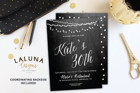 adult birthday invitation chalkboard birthday
