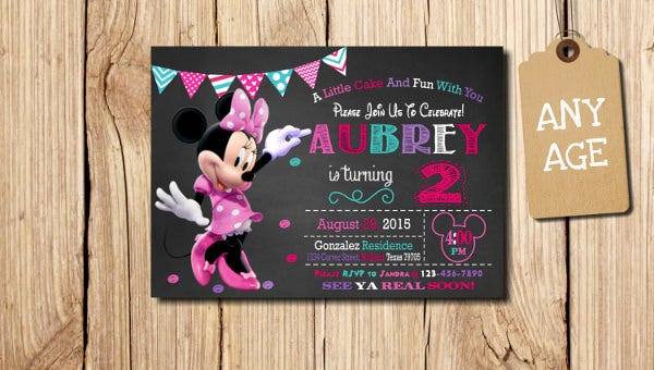 Minnie Mouse Birthday Invitation1