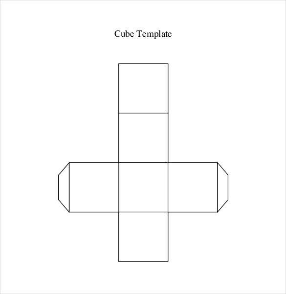 Paper Cube Templates  Free Sample Example Format Download