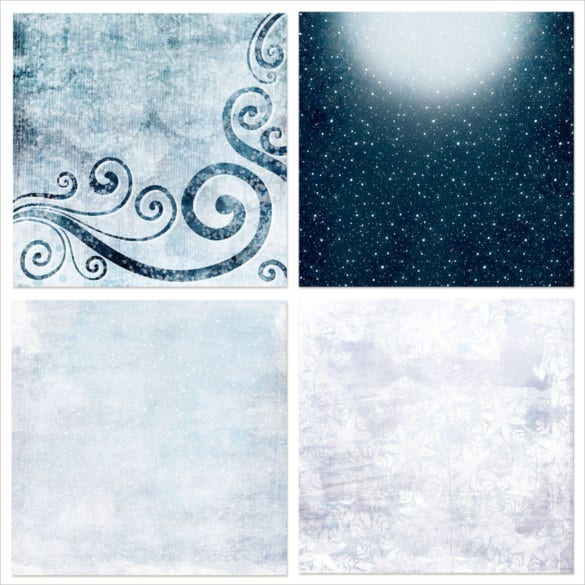 10 designs of winter frost digital backgrounds