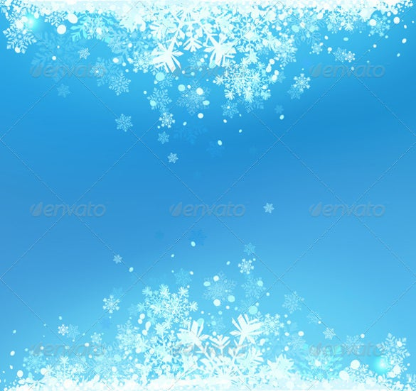 vector illustration of blue abstract winter background