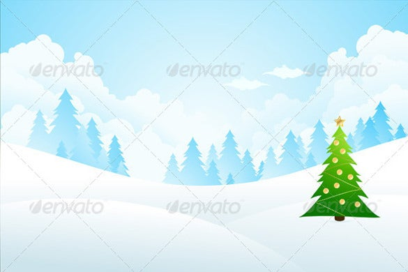 winter background with fir tree and clouds eps design