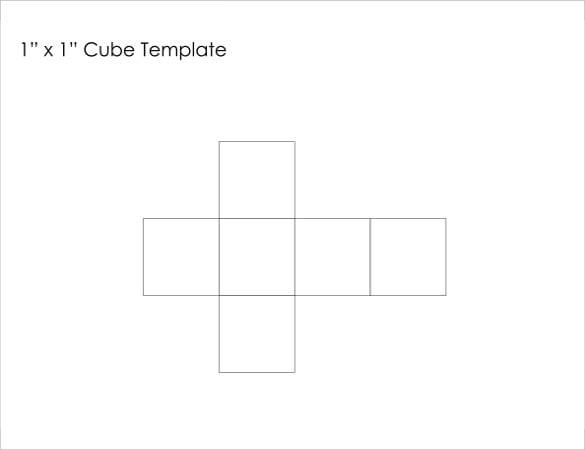 9  paper cube templates  u2013 free sample  example  format