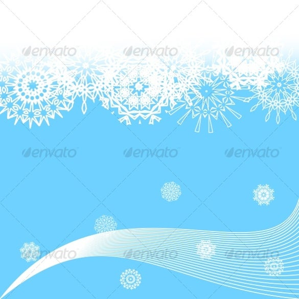 vector illustration of winter background snowflakes