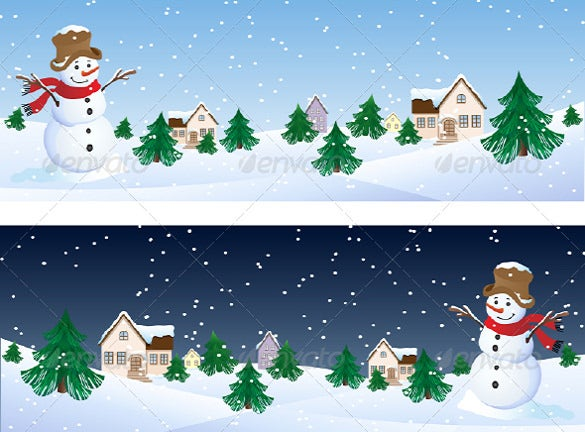 vector illustration snowman whis winter background