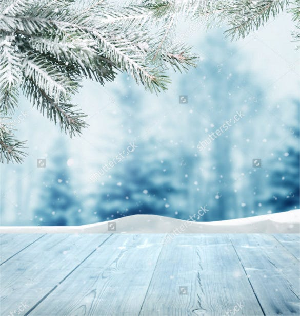 winter background with wooden layer design download