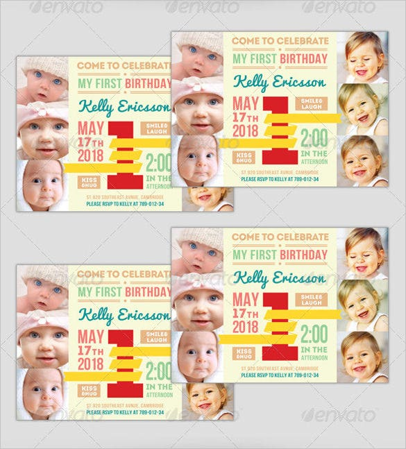 Print Ready First Birthday Invitation For Boys And Girls