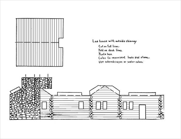 paper piligrim house template download