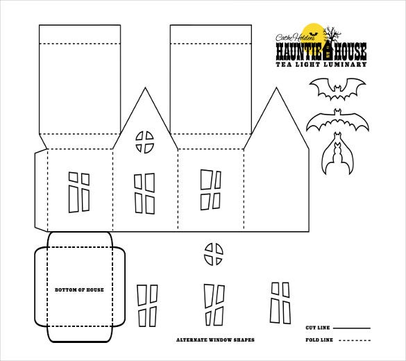 Paper House Templates  Free Sample Example Format Download