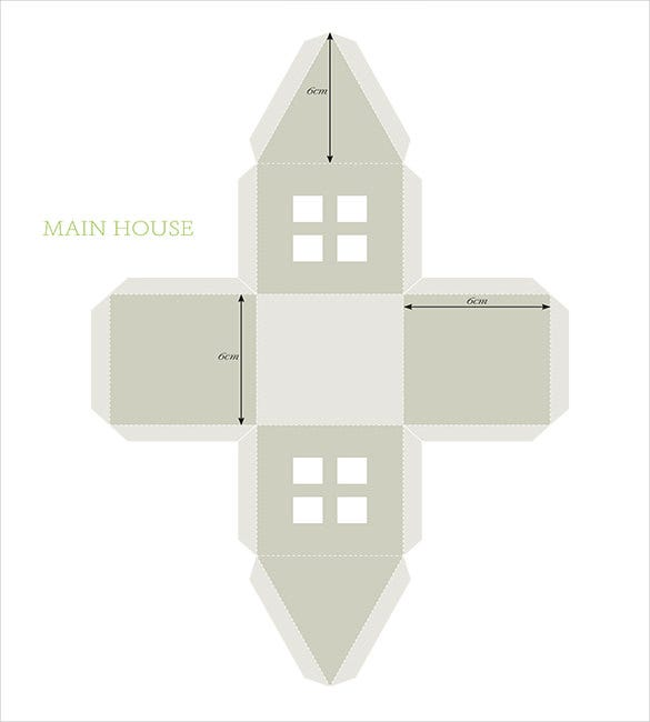 christmas craft light house template download