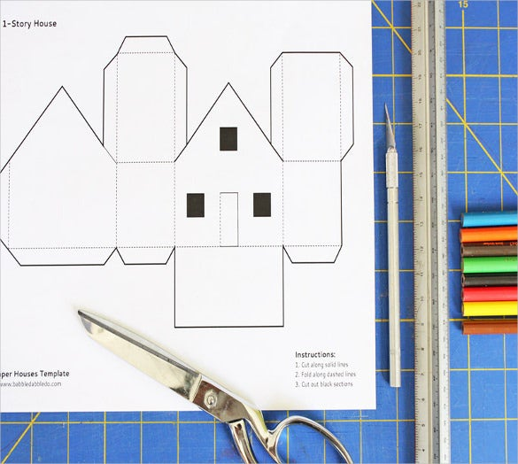 ... Paper Houses Templates For Kids Paper Houses Templates For Kids Free