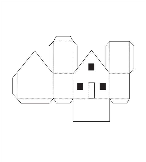 free paper house template pdf format
