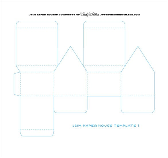 14+ Paper House Templates – Free Sample, Example, Format Download ...