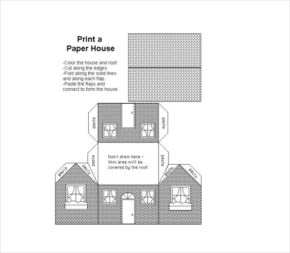 printable paper house template download