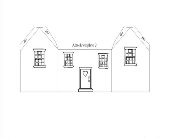 house 3d paper craft template