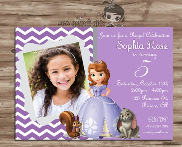 Personalised Birthday Party Celebration Invitation For Girl