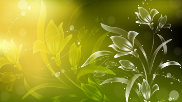 floral art green background for laptop free download