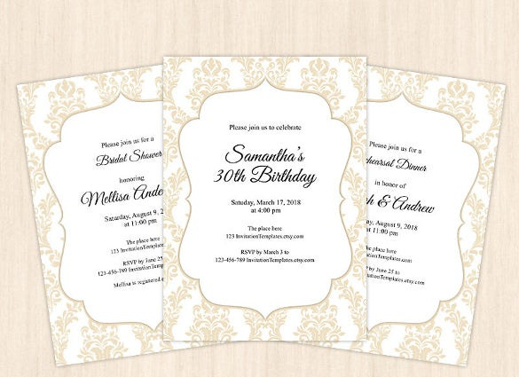 Personalized Birthday Invitations Free PSD Vector EPS AI - Free birthday invitation templates for adults