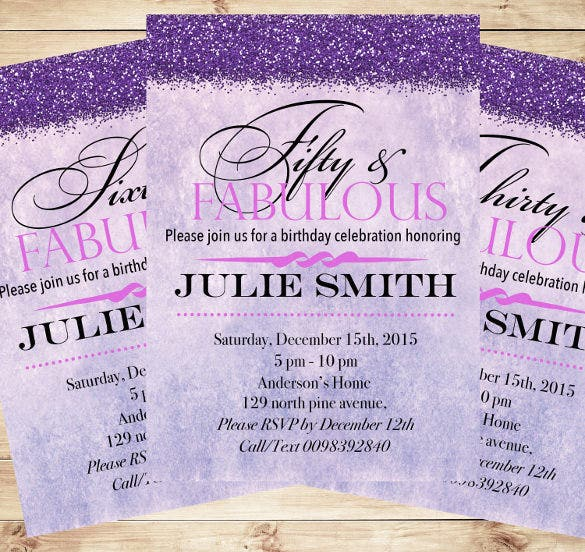 custom fabulous birthday party invitations